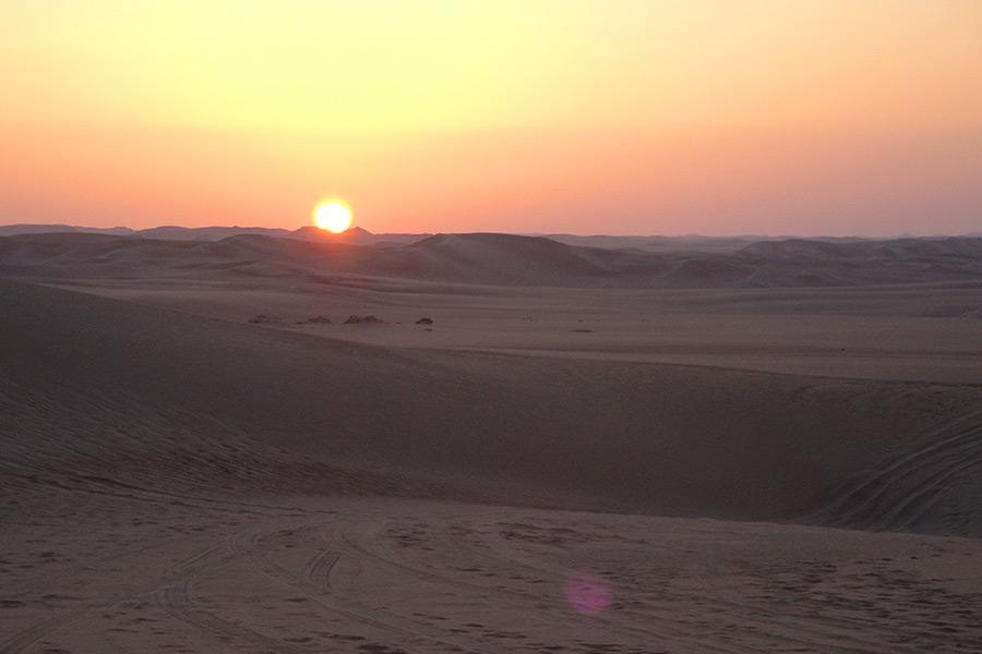 Sonnenuntergang, Wueste, Oase Siwa