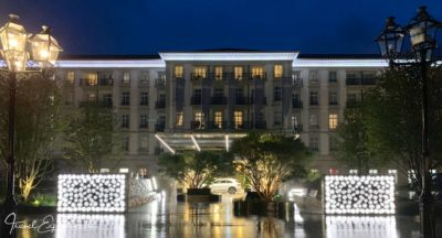Grand Resort Bad Ragaz, Quellenhof, Eingang, by night