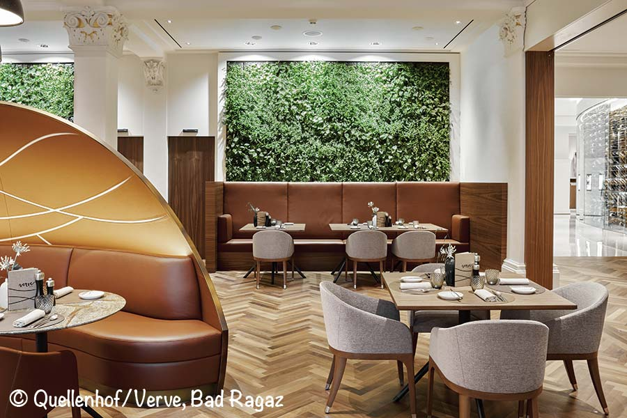 quellenhof bad ragaz, restaurant verve by sven