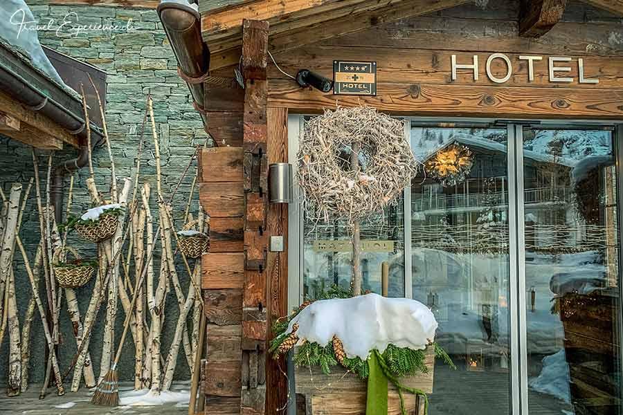 Boutiquehotel Matthiol, Zermatt, Eingang