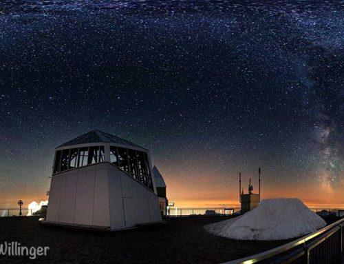 Lermoos / Zugspitze: Berge unter Sternen