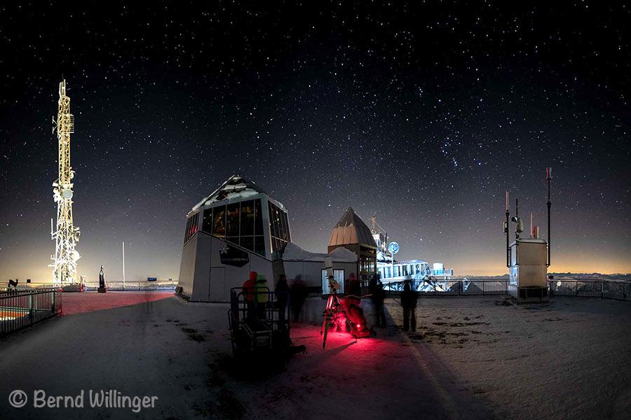 Zugspitze Sterne beobachten Foto von Bernd Willinger