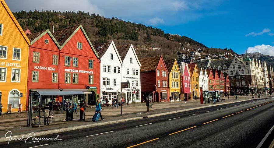 Bryggen in Bergen, Norwegen