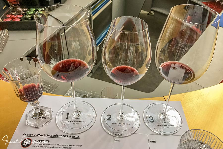 Riedel, Kufstein, Weinverkostung