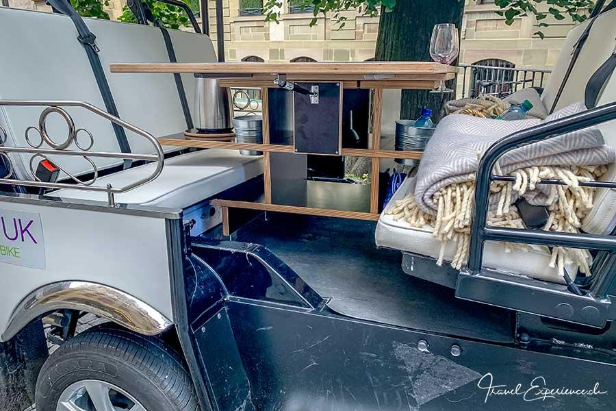RestoTuk, Tuktuk, Innenleben