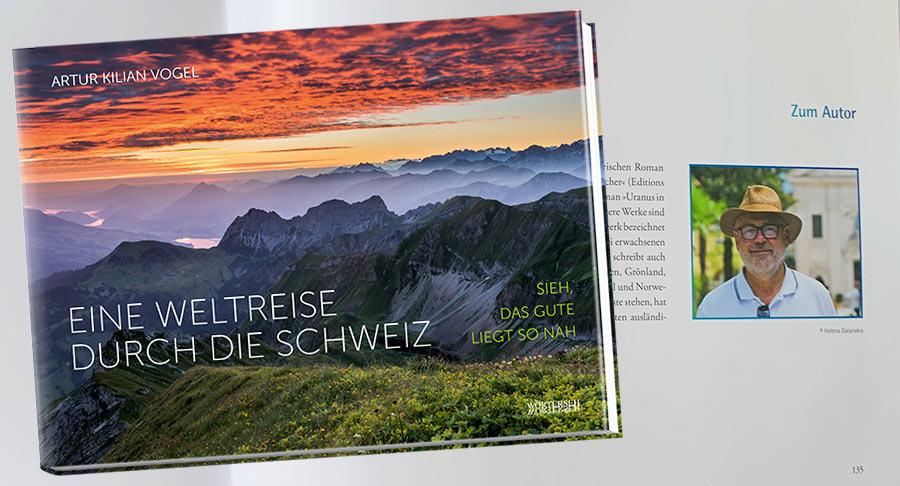 Buchtipp, Cover, Eine Weltreise durch die Schweiz