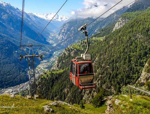 Mit kleinen Luftseilbahnen auf die Alpen