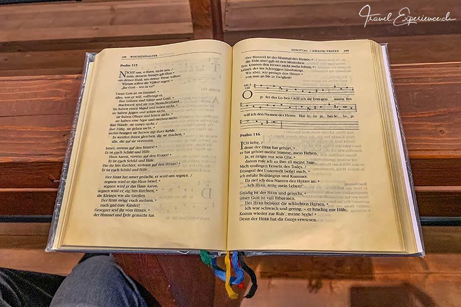 Kloster Disentis, Konventamt, Text
