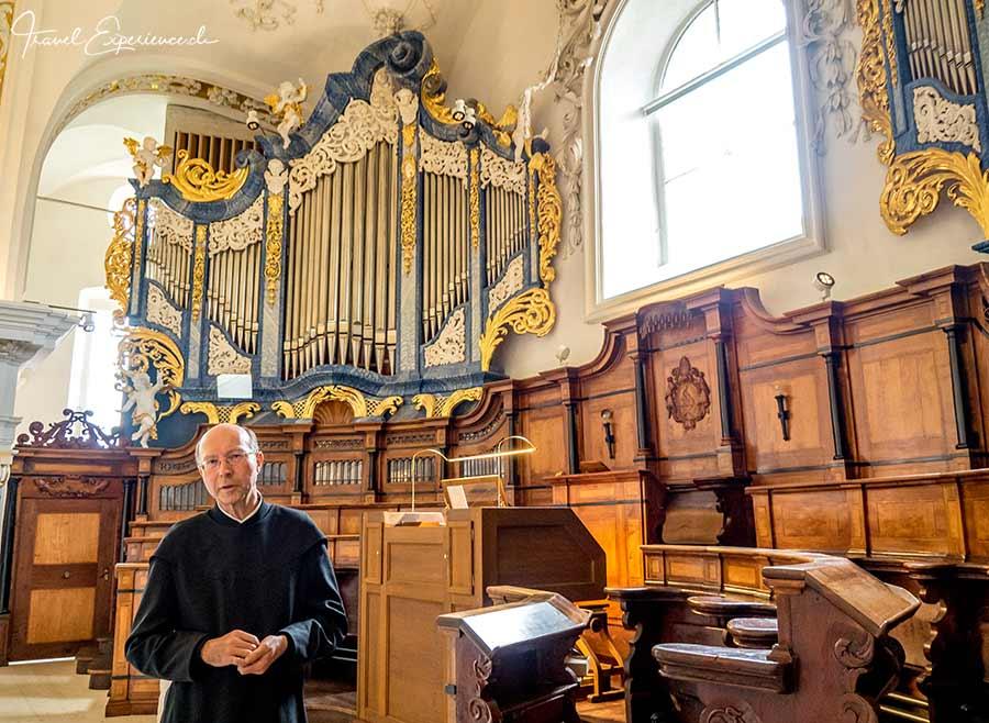 Kloster Disentis, Bruder Stefan, Grosse Orgel,