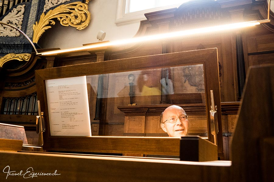 Kloster Disentis, Bruder Stefan, Grosse Orgel
