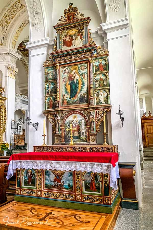 Kloster Disentis, Martinskirche, von Castelberg Altar