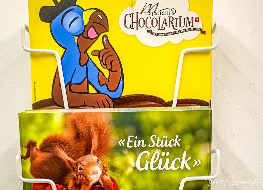 Maestrani, Chocolarium, Postkarten, Globi