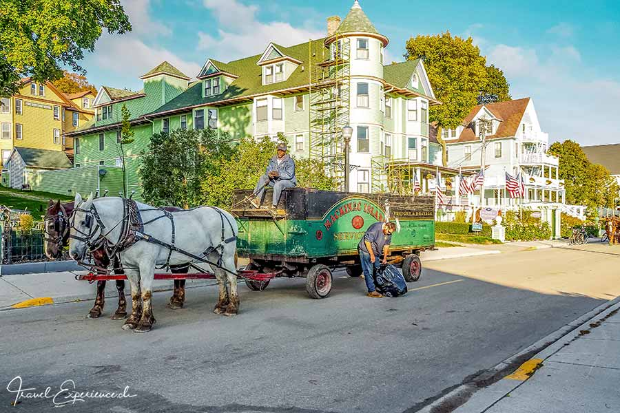 Michigan, Mackinac Island, Abfuhrwesen