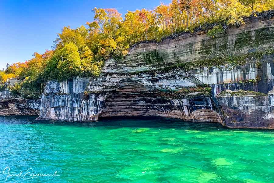 Michigan Upper Peninsula, Pictured Rocks, Rainbow Cave