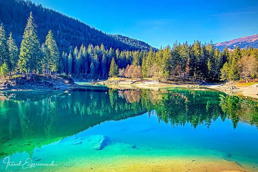 Caumasee, Flims, Graubünden, Schweiz