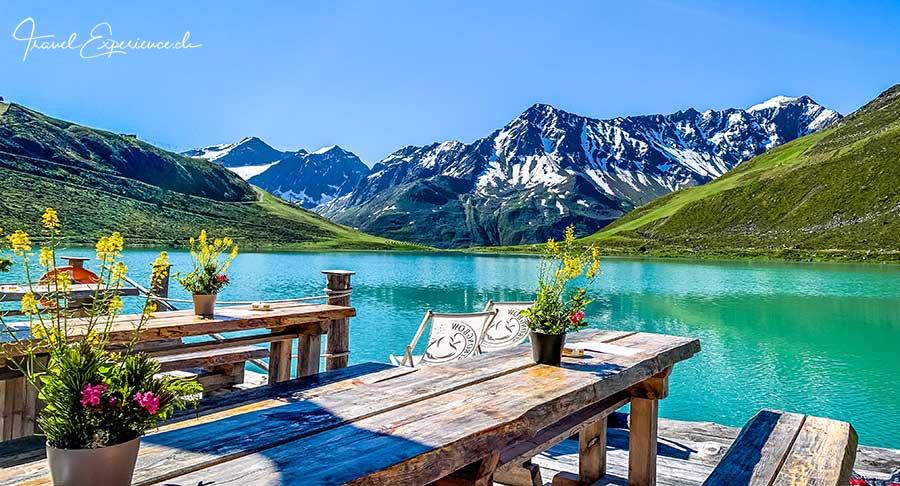 Tirol, Pitztal, Rifflsee, Flossfahrt