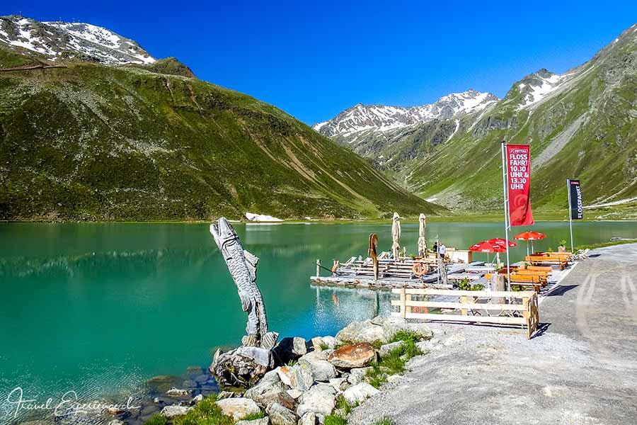 Tirol, Pitztal, Rifflsee, Floss