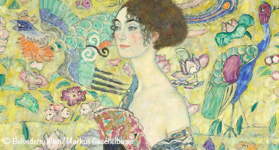 Gustav Klimt, Dame mit Fächer, Bleveder Wien