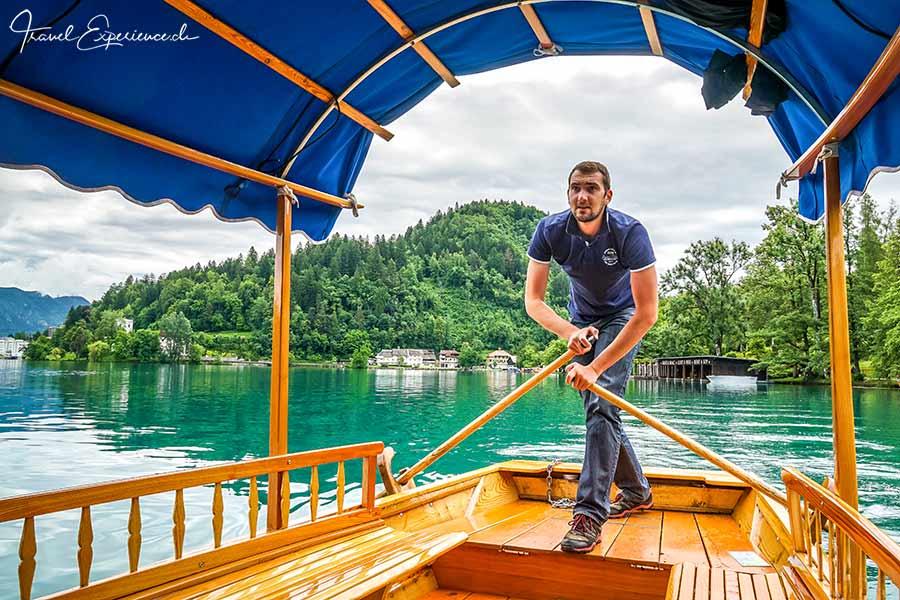 Slowenien, Bleder See, Ruderer, Pletnar