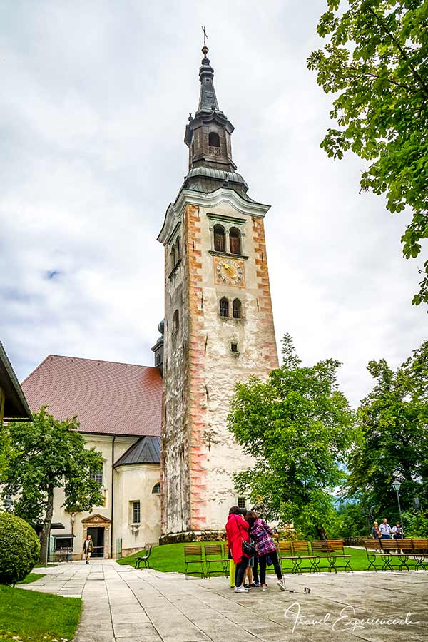 Slowenien, Insel Bled, Kirche