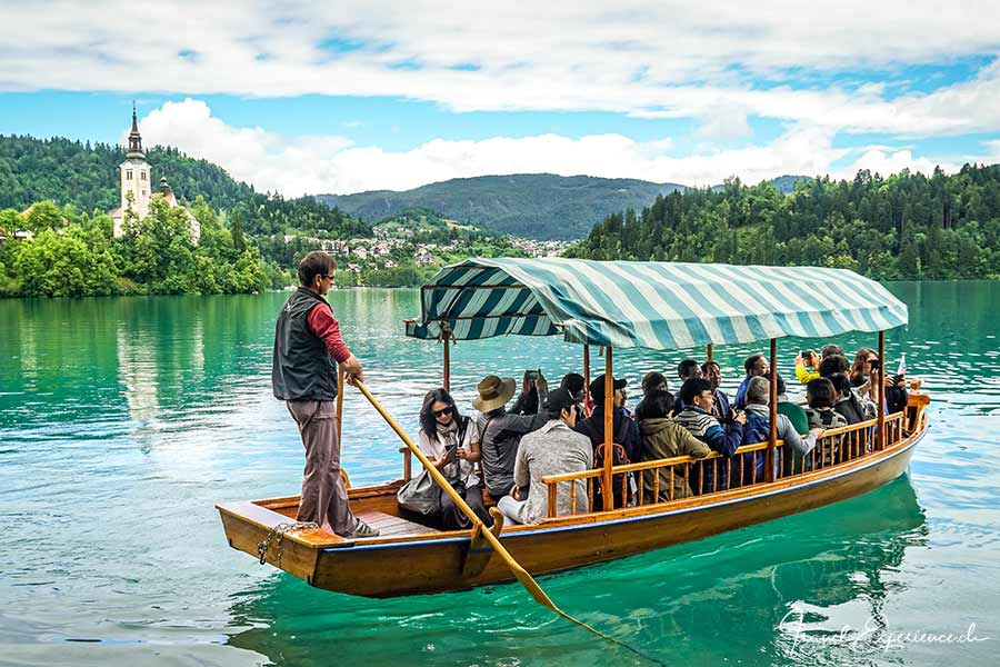 Slowenien, Bleder See, Pletna