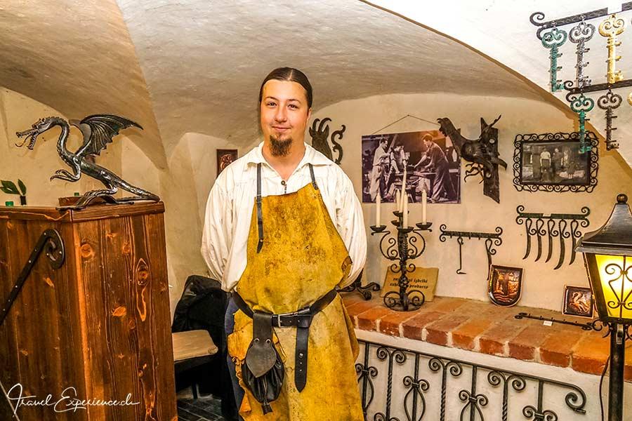 Slowenien, Bled, Burg, Schmied