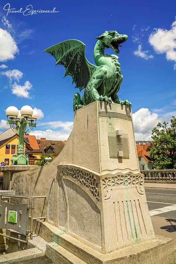 Slowenien, Ljubljana, Drachen, Brueckenkopf