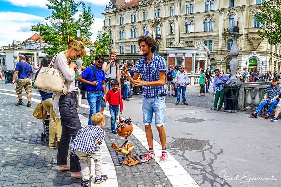 Slowenien, Ljubljana, Strassenkunst