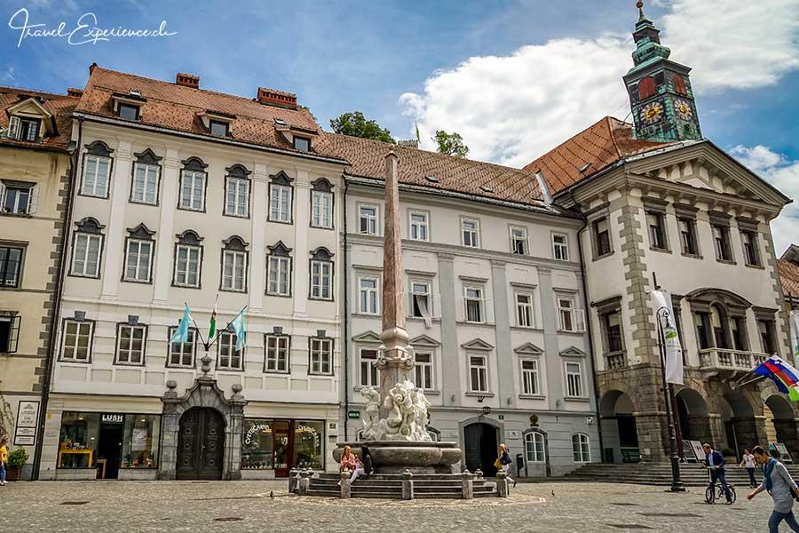 Slowenien, Ljubliana, Robba Brunnen