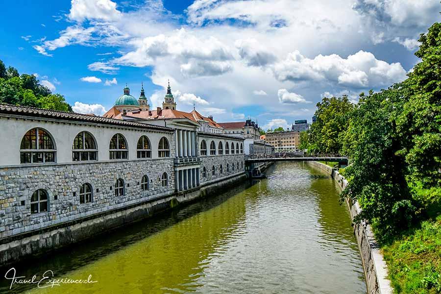 Slowenien, Ljubljana, Markthallen