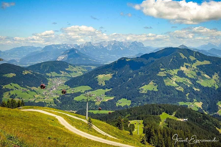 Aussicht vom Schatzberg in der Wildschönau aus
