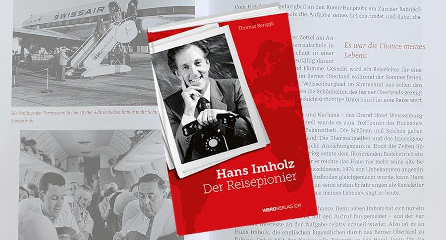 Buchcover, Hans Imholz, der Reisepionier, von Thomas Renggli