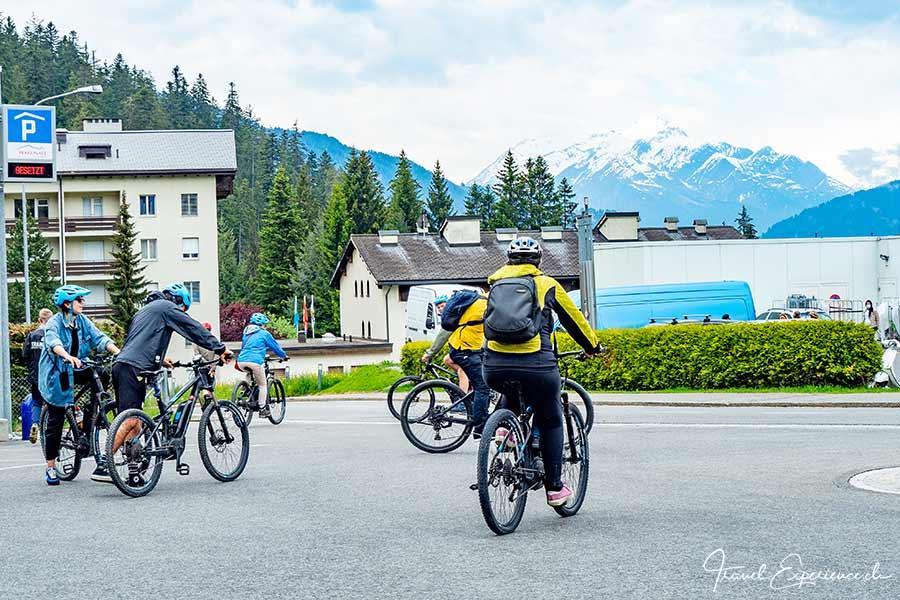 Mountain-Biker, Laax