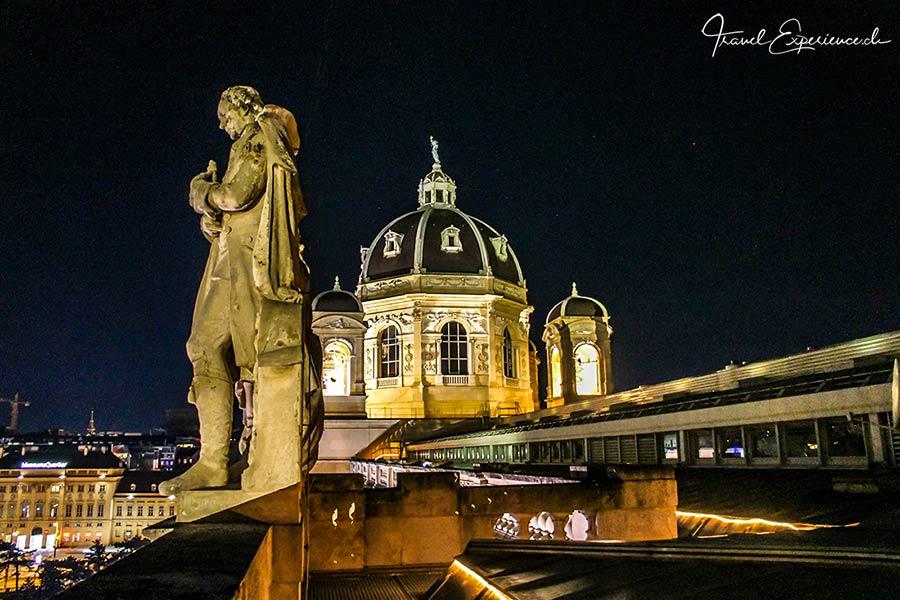 Naturhistorisches Museum Wien bei Nacht