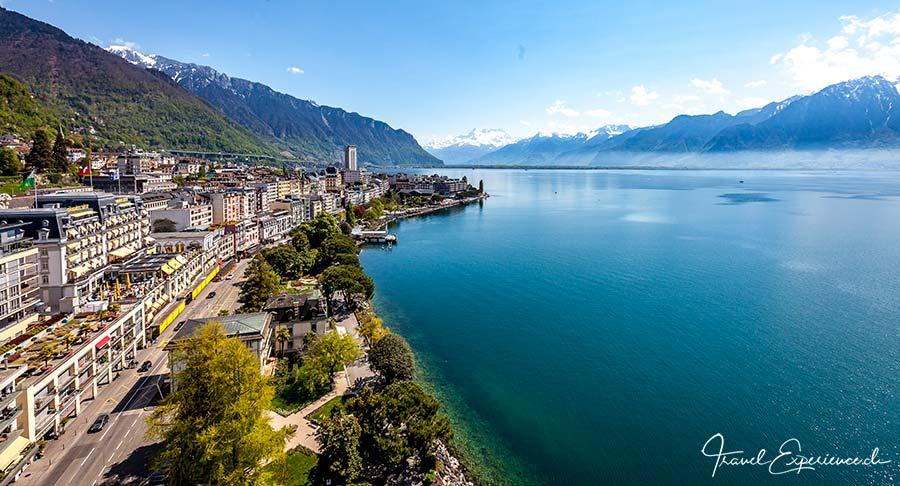 Montreux, die Promenade und der Genfersee