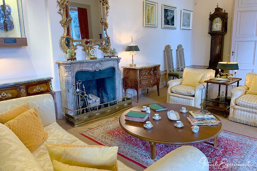 Wohnzimmer der Familie Chaplin