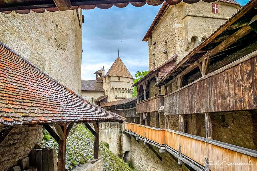 Wehrgang im Schloss Chillon